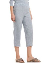 Eileen Fisher - Cropped Straight Leg Raw Edge Pants - Lyst