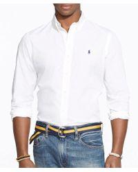 Polo Ralph Lauren - Cotton Solid Poplin Shirt - Lyst