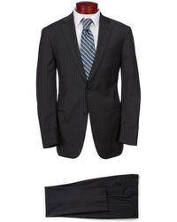 Hart Schaffner Marx Modern Fit Striped Suit - Gray