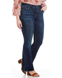 Silver Jeans Co. - Plus Size Avery Slim Bootcut Jeans - Lyst