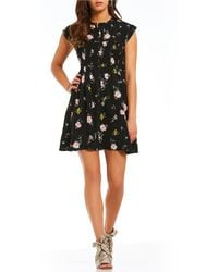 Free People - Greatest Day Smocked Floral Print Mini Dress - Lyst