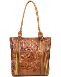 Patricia Nash - Burnished Tooled Collection Rena Tasseled Tote - Lyst