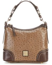 Dooney & Bourke Ostrich Collection Hobo Colorblock Bag - Brown