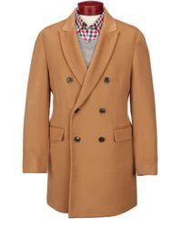 Hart Schaffner Marx Dublin Solid Modern Fit Top Coat - Brown