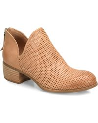 Söfft - Canobie Perforated Leather Block Heel Booties - Lyst