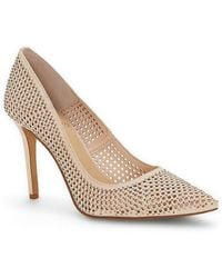 Vince Camuto Sarritah Nubuck Leather Perforated Rhinestone Detail Dress Pumps u04sFobLh