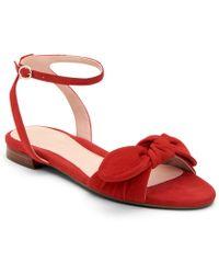 4f2fbae77189 Taryn Rose - Vivian Suede Bow Block Heel Sandals - Lyst