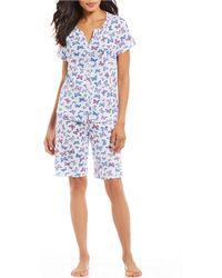 Karen Neuburger - Butterfly-printed Bermuda Pajama Set - Lyst