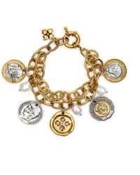 Patricia Nash - The World Coin Double Charm Bracelet - Lyst