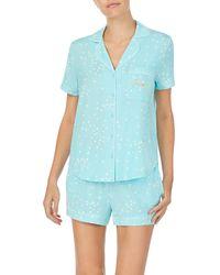 Kate Spade Short Pajama Set - Blue