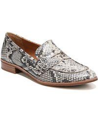 ed497e2305b Franco Sarto - Sarto By Jolette Snake Print Block Heel Loafers - Lyst