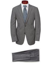Hart Schaffner Marx Modern Fit Solid Suit - Gray