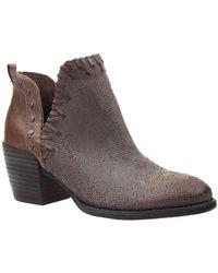 Otbt - Santa Fe Textured Ankle Block Heel Booties - Lyst