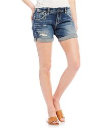 Silver Jeans Co. - Sam Destructed Cuffed Shorts - Lyst