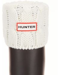 HUNTER - Original Six-stitch Cable Short Boot Socks - Lyst