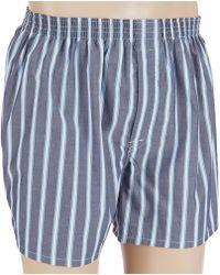 Cremieux Woven Large Striped Boxers - Blue