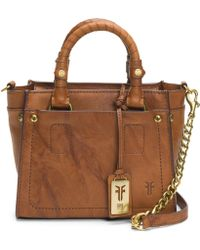 Frye Demi Mini Vintage Leather Satchel - Brown