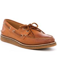 Sperry Top-Sider - Men's Gold Authentic Original 2-eye Crepe Boat Shoes - Lyst