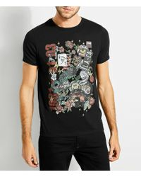 Guess - Short-sleeve Patches Crew T-shirt - Lyst