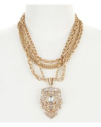 Belle By Badgley Mischka - Rhinestone Deco Pendant Necklace - Lyst