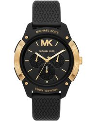 Michael Kors Women's Ryder Multifunction Black Silicone Watch