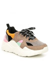 Gianni Bini Troye Chunky Lace-up Sneakers - Multicolour