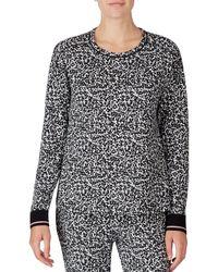 Kensie - Leopard Print Jersey Knit Sleep Top - Lyst