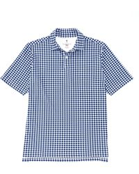 Fairway & Greene Fairway Greene Golf Usa Billie Check Short-sleeve Polo - White