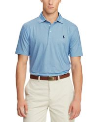 9301cb2f Polo Ralph Lauren - Mini Print Airflow Jersey Short-sleeve Polo Shirt - Lyst