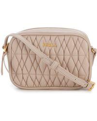 e3de27e68915 Lyst - Furla Elena Small Saffiano Leather Satchel in Pink