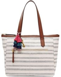 Fossil - Fiona Striped East/west Colorblock Tote - Lyst