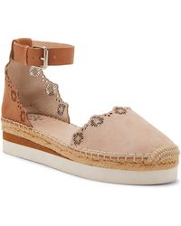 Vince Camuto - Breshan Suede And Leather Wedge Espadrilles - Lyst