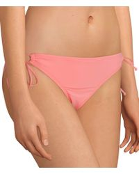 Cremieux Solid Keyhole Tunnel Side Swimsuit Bottom - Pink