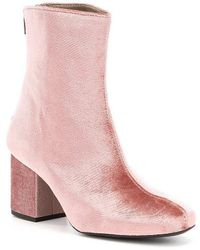 Free People Velvet Cecile Boots - Pink