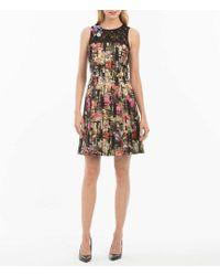 Nicole Miller - Metallic Brocade Dress - Lyst