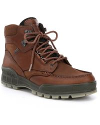 Ecco Track Ii High Leather Ankle Boots - Brown