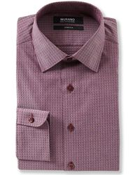 Murano - Slim Fit Spread Collar Picked Texture Dress Shirt - Lyst