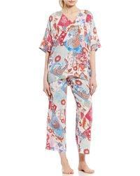 N By Natori - Ivy Patchwork-printed Challis Pajama Set - Lyst