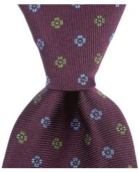 "Brooks Brothers - Two Tone Flower Traditional 3.25"" Silk Tie - Lyst"