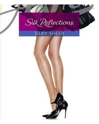 Hanes Silk Reflections Control Top Reinforced-toe Hosiery - Blue