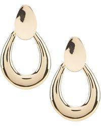 Dillard's - Oval Door Knocker Earrings - Lyst