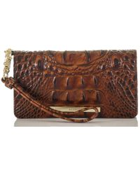 Brahmin - Melbourne Collection Debra Croco-embossed Wallet - Lyst
