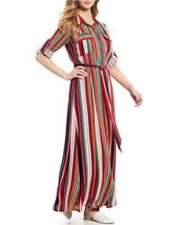 Sugarlips - Rainbow Button Front Maxi Dress - Lyst