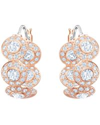 Swarovski - Angelic Hoop Earrings - Lyst