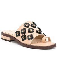 Carly Floral Applique Block Heel Sandals 7o8fEu1l