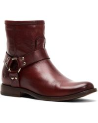 Frye - Phillip Harness Leather Short Booties - Lyst
