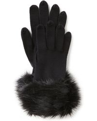 Parkhurst Ladies' Faux-fur Cuff Gloves - Black