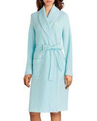 Lauren by Ralph Lauren Textured Wrap Robe - Blue