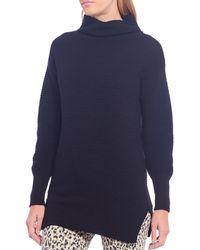 Ella Moss Ramona Ottoman Cotton Blend Sweater - Black