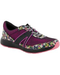Alegria Traq Qarma Smart Floral Sneakers - Gray
